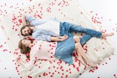 красивейшая влюбленность пар Стоковые Изображения RF