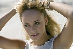 красивейшая головная естественная женщина съемки Стоковые Фотографии RF
