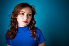 красивейшая голубая женщина Стоковое фото RF