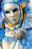 красивейшая голубая маска venice Италии Стоковые Фотографии RF