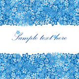 красивейшая голубая флористическая рамка Стоковые Фото