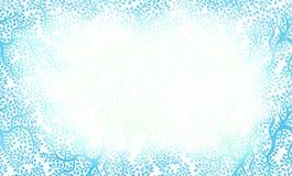 красивейшая голубая флористическая сделанная по образцу рамка Стоковые Фотографии RF