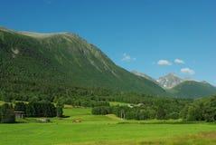 красивейшая гора Норвегия ландшафта сельская Стоковые Изображения