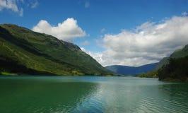 красивейшая гора Норвегия ландшафта Стоковое Изображение RF