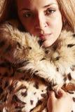 Красивейшая дама в шерсти Стоковое Изображение RF