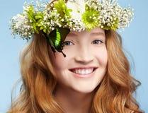 красивейшая девушка бабочки Стоковые Фото
