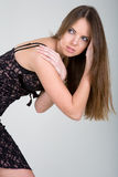 красивейшая девушка брюнет стоковое изображение