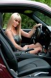 красивейшая девушка водителя Стоковое Фото
