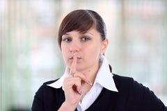 Красивейшая девушка в офисе. Стоковая Фотография