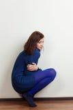 Красивейшая девушка в сини стоковые фото