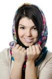 Красивейшая девушка в шарфе, Moslem Стоковая Фотография