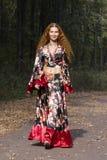 красивейшая девушка имбиря с волосами Стоковое фото RF