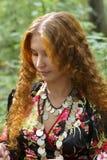 красивейшая девушка имбиря с волосами Стоковая Фотография