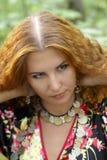 красивейшая девушка имбиря с волосами Стоковые Изображения
