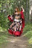 красивейшая девушка имбиря с волосами Стоковое Фото