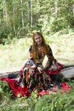 красивейшая девушка имбиря с волосами Стоковые Фотографии RF