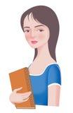 красивейшая девушка коллежа Стоковые Фотографии RF