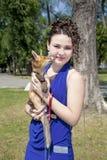 красивейшая девушка лисицы предназначенная для подростков Стоковые Фото