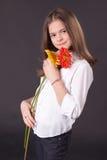 красивейшая девушка маргариток Стоковое Фото