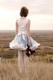 красивейшая девушка обрыва Стоковая Фотография RF