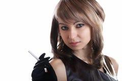 красивейшая девушка сигареты Стоковая Фотография RF