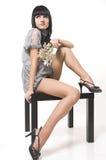 красивейшая девушка сидит Стоковое Изображение
