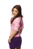 красивейшая девушка стильная Стоковая Фотография RF