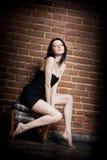красивейшая девушка стула Стоковые Фотографии RF