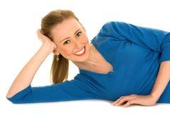 красивейшая девушка счастливая Стоковые Изображения RF