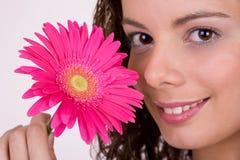 красивейшая девушка цветка стоковые изображения