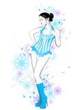 красивейшая девушка Бесплатная Иллюстрация