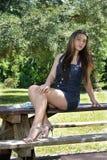 красивейшая девушка 3 outdoors предназначенная для подростков Стоковые Фото
