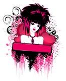 красивейшая девушка emo иллюстрация вектора