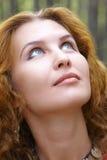 красивейшая девушка ginder с волосами Стоковая Фотография