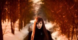 красивейшая девушка redheaded Стоковые Изображения RF