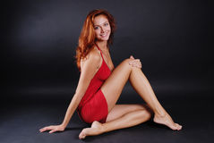 красивейшая девушка redheaded Стоковые Изображения
