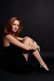 красивейшая девушка redheaded Стоковое Изображение