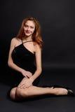 красивейшая девушка redheaded Стоковые Фотографии RF