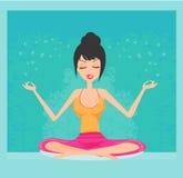 красивейшая делая йога девушки Стоковая Фотография