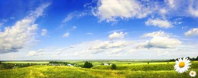 красивейшая долина pano холма Стоковые Изображения