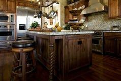 красивейшая домашняя кухня новая Стоковое фото RF