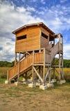 красивейшая дом деревянная стоковые изображения rf