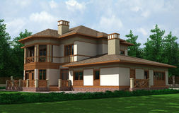 красивейшая дом Иллюстрация штока