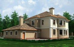красивейшая дом Иллюстрация вектора