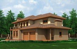 красивейшая дом Бесплатная Иллюстрация