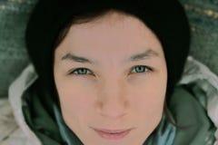красивейшая девушка глаз стоковые фотографии rf