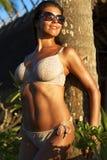 Девушка на заходе солнца Стоковое Изображение RF