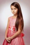 красивейшая девушка платья немногая пинк стоковые изображения rf