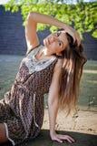 красивейшая девушка платья Стоковая Фотография RF