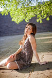 красивейшая девушка платья Стоковые Изображения RF